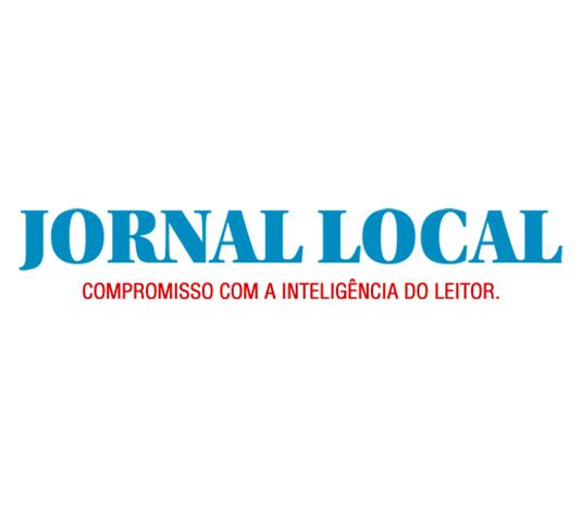 Jornal Local Logo com slogan